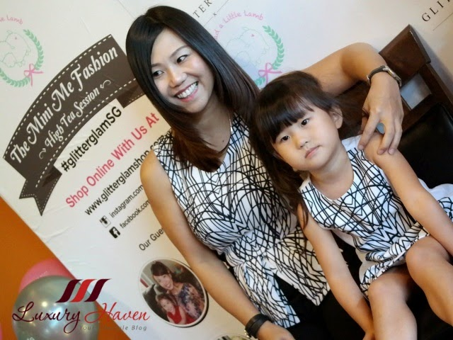 glitter glam mary lin with daughter