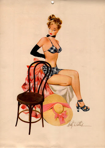 Fritz Willis pinup calendar girl