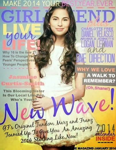Magazine Cover : Jasmine Curtis-Smith Magazine Photoshoot Pics on Girlfriend Magazine Philippines January 2014 I