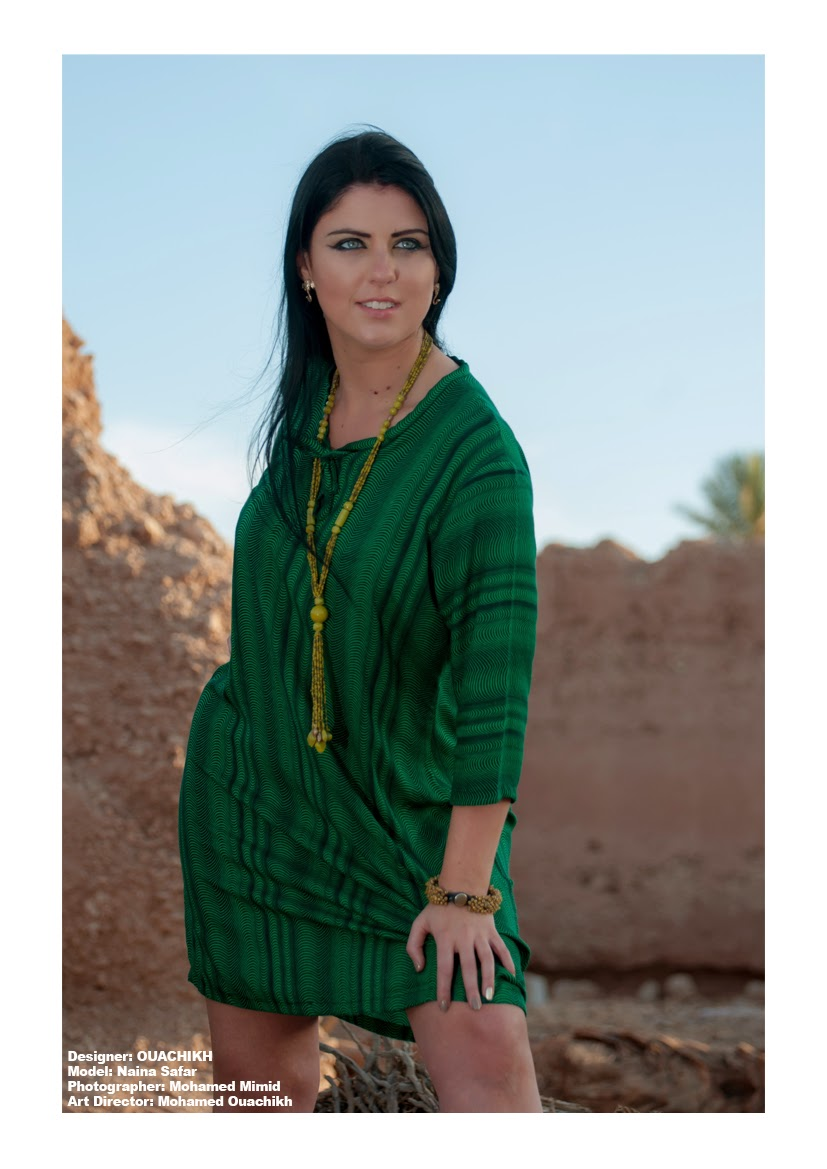 Marrakech Fashion photo-shoot - Model : Naina Safar, Designer : OUACHIKH