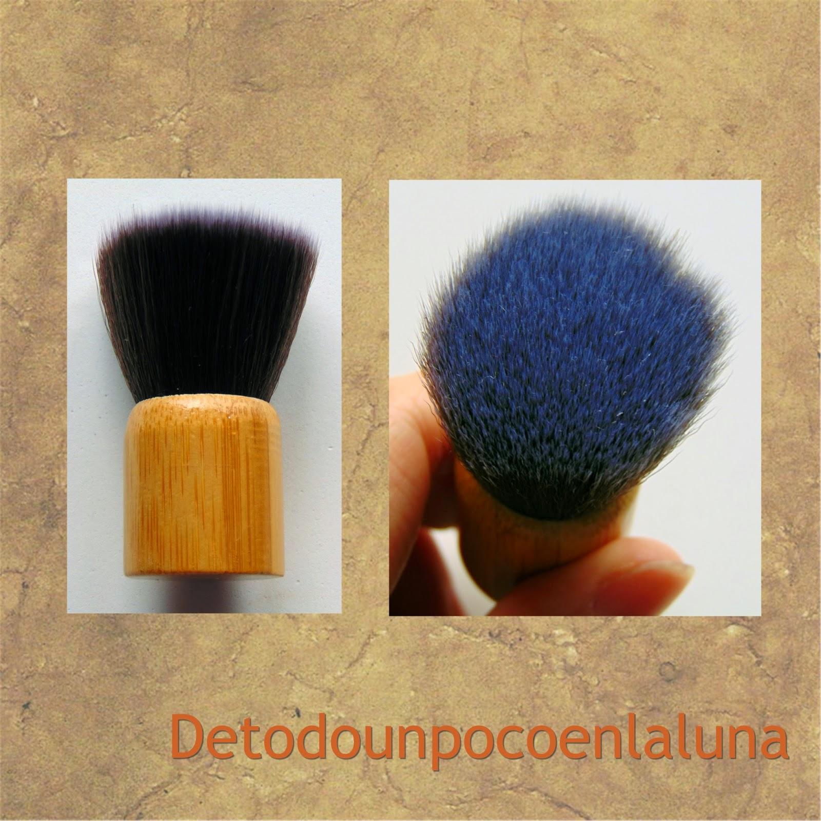 Set 11 brochas de maquillaje de bambú de Buyincoins kabuki pequeña