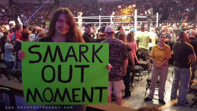 Smark Out Moment wrestling sign SmackDown