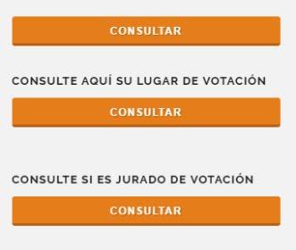 CONSULTE SU LUGAR DE VOTACION Y SI ES JURADO