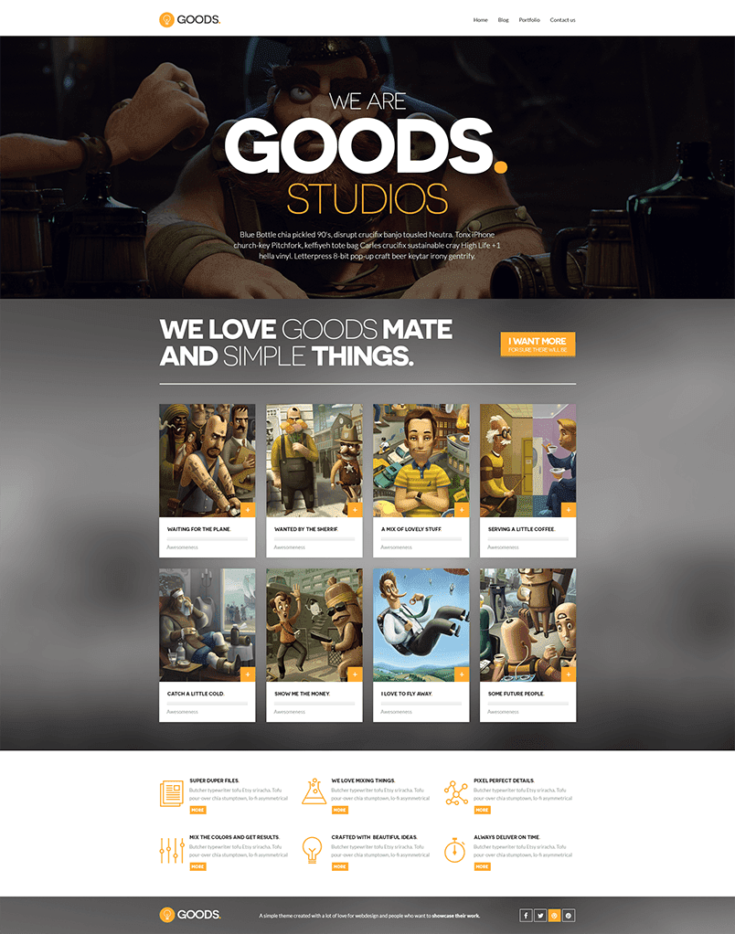 Goods Free PSD Template