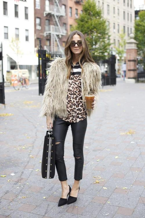 Streetstyle: Fur and Clashing Prints