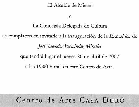 Exposición Casa Duró