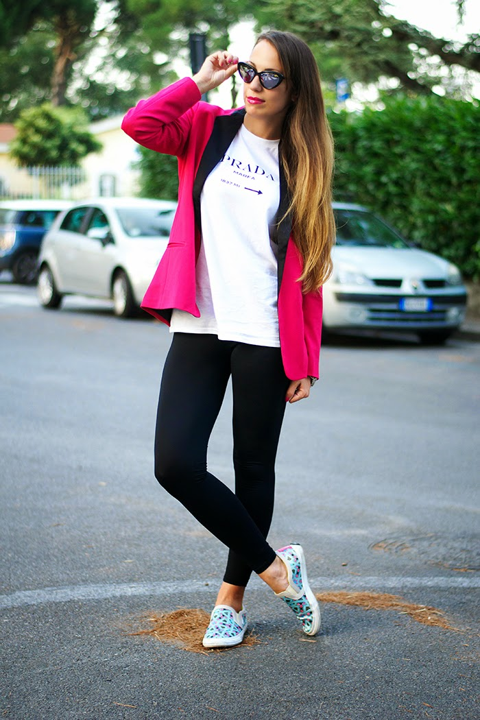 leggings + blazer