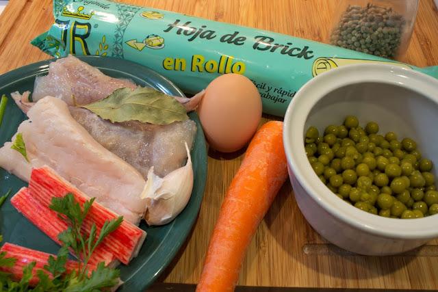 ingredientes Samosas de pescado con salsa teriyaki