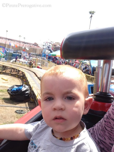 Riding on a truck ride at the fair