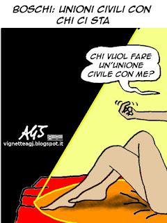 Boschi, UDC, Unioni civili, satira, vignetta