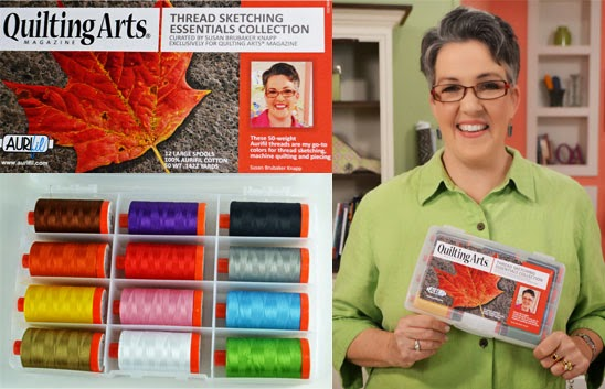 aurifil designer thread collection, susan brubaker knapp