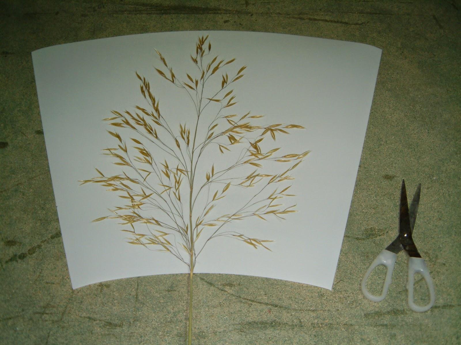 lámparas artesanas con flores secas