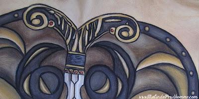 malinda prud 39 homme a mixed media artist 39 s blog modern warrior beauty. Black Bedroom Furniture Sets. Home Design Ideas
