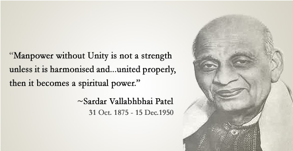 Sardar Vallabhbhai Patel quote