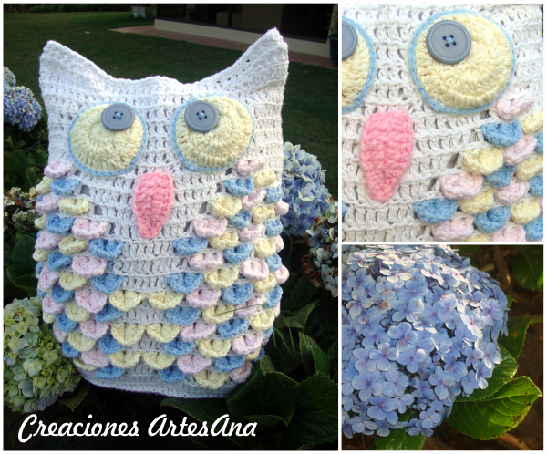 Creaciones ArtesAna: Nuevo búho de crochet!!!