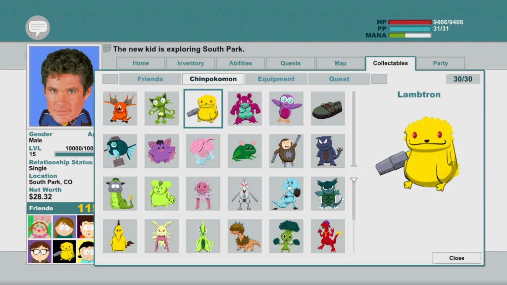 South Park: The Stick Of Truth Cheats, Codes, Cheat Codes ...