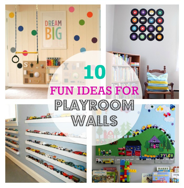Thrive 360 living 10 fun ideas for playroom walls - Small space playroom ideas ...