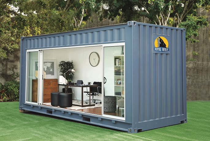 Shipping container homes 20 foot shipping container outdoor room by royal wolf - Ft container home ...