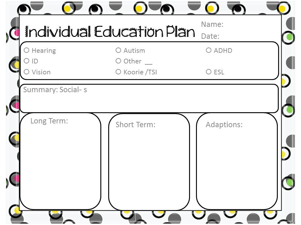 A Happy Little Time- Teacher Blog: Freebie! Template for IEP\'s or ...