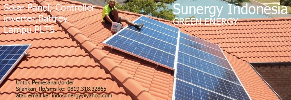 Sunergy Indonesia, harga solar cell, controller mppt, battrey. lampu pju  dan solar panel