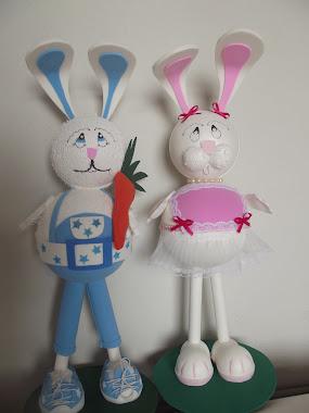 A PASCOA esta chegando ai vai novos modelos de coelhos. Façam sua encomendas.