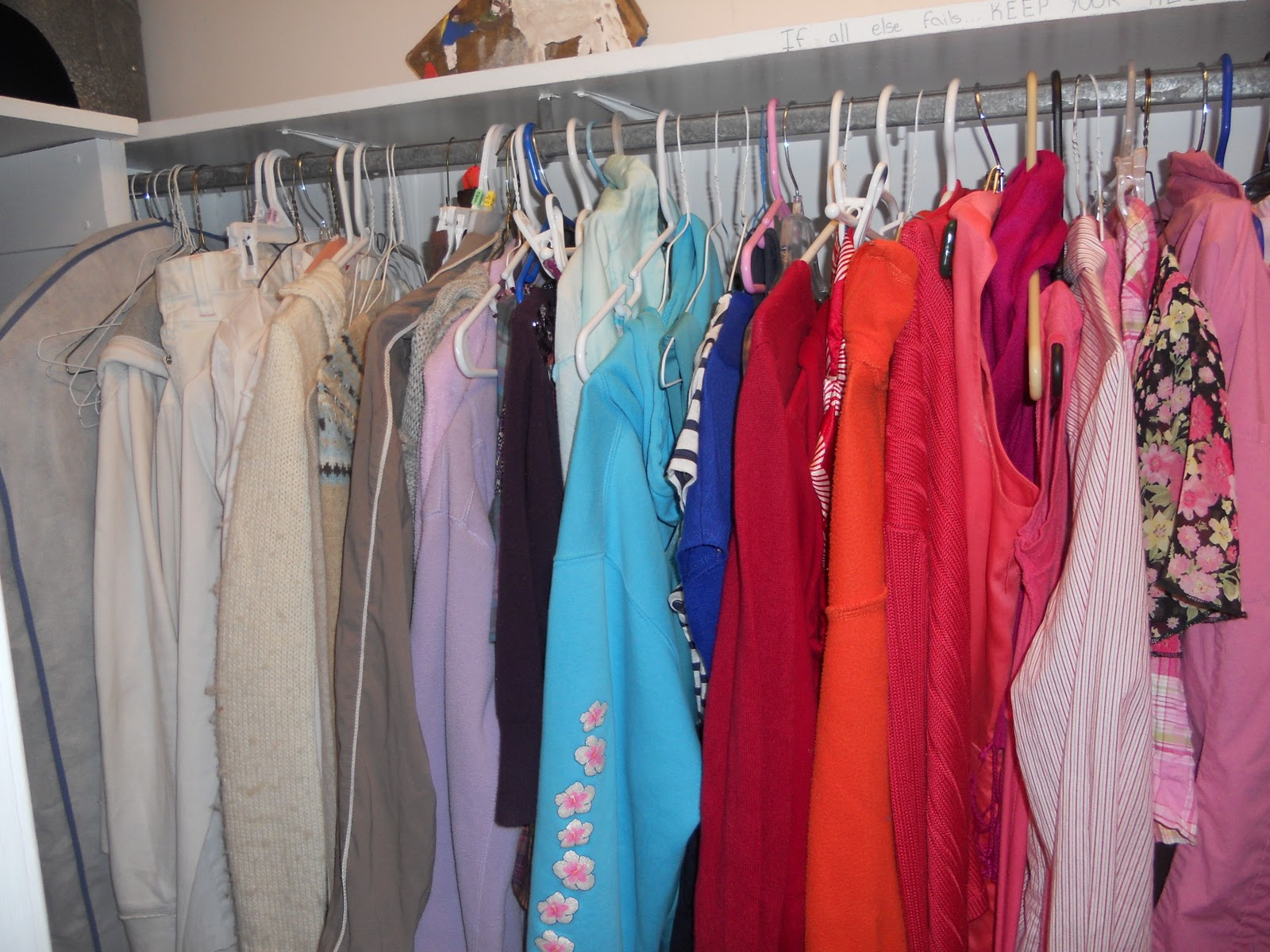 How We Spend Our Days Color Coordinated Closet