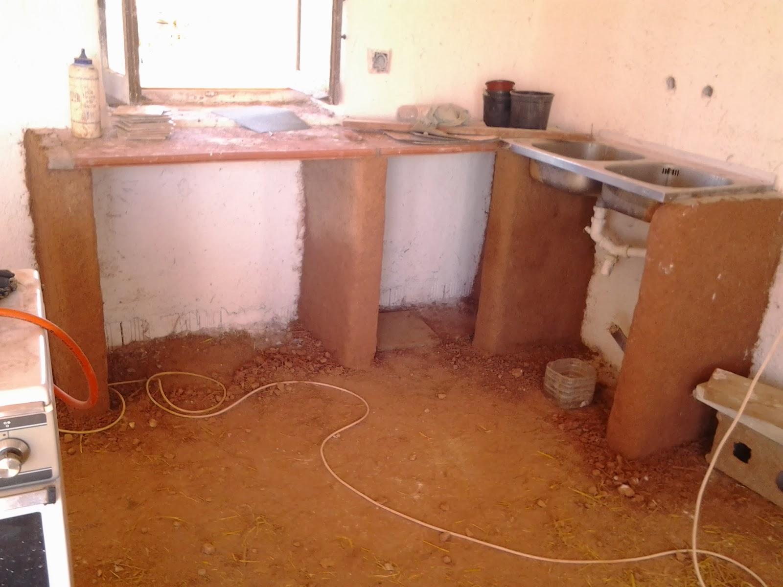 El pozo de la vid tadelakt - Como hacer una cocina de obra ...