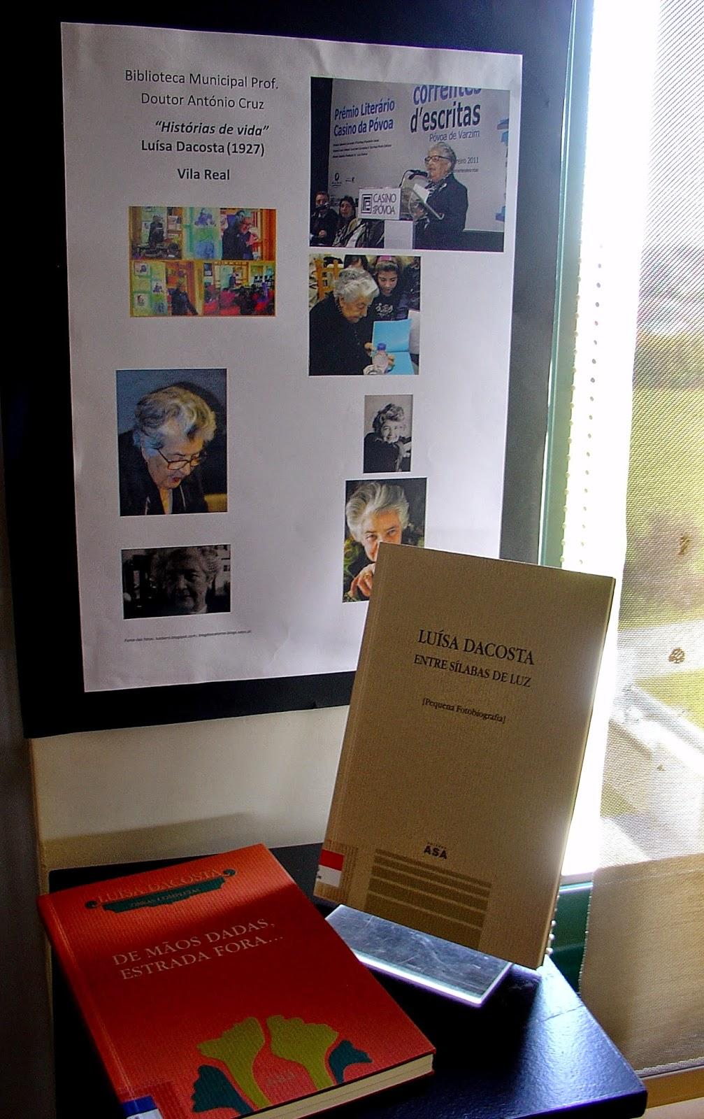 """A Biblioteca Municipal Prof. Doutor António Cruz apresenta esta  iniciativa de divulgação das obras que integram o seu fundo documental. """"Histórias de vida"""" é uma mostra bibliográfica que, quinzenalmente, destaca personalidades com relevância em Portugal e no mundo."""