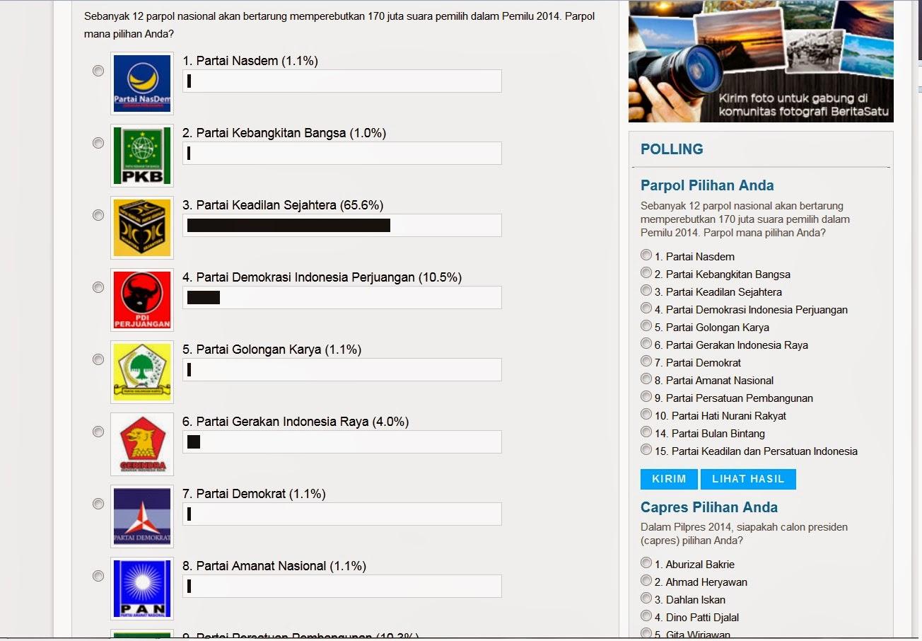 PKS menang polling, PKS jawara 2014