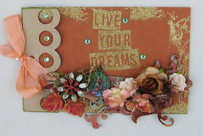 Visible Image stamp Live Your Dreams Sparkle Challenge