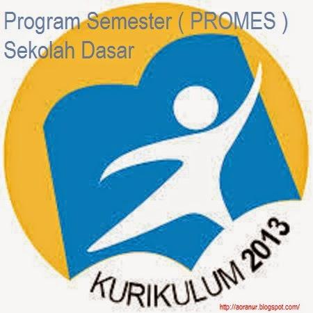 Program Semester Promes Sd Kelas 1 2014 2015 Kurikulum