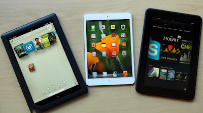 iPad mini, tablet, and nook