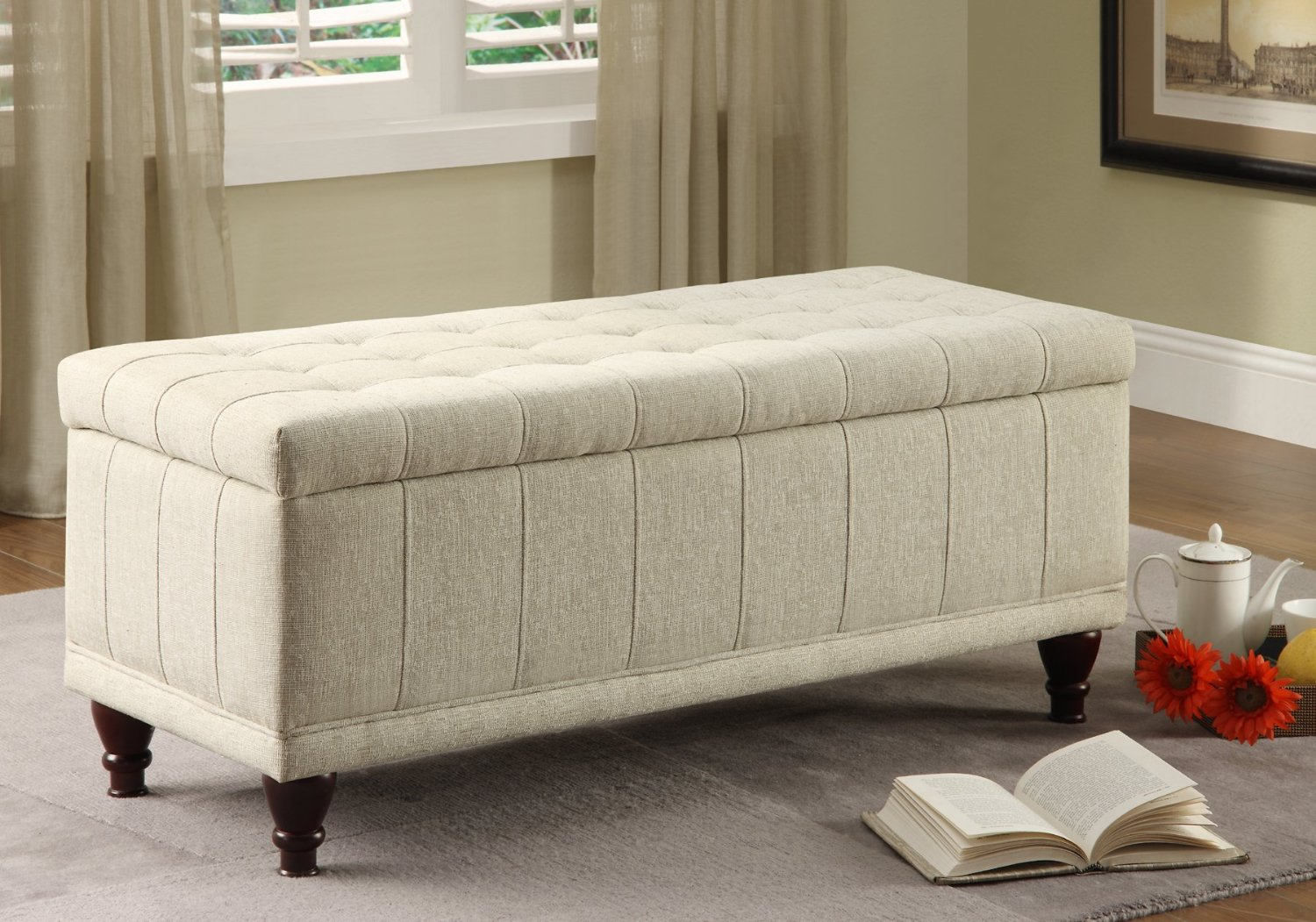Total Fab Bedroom Storage Bench Seat