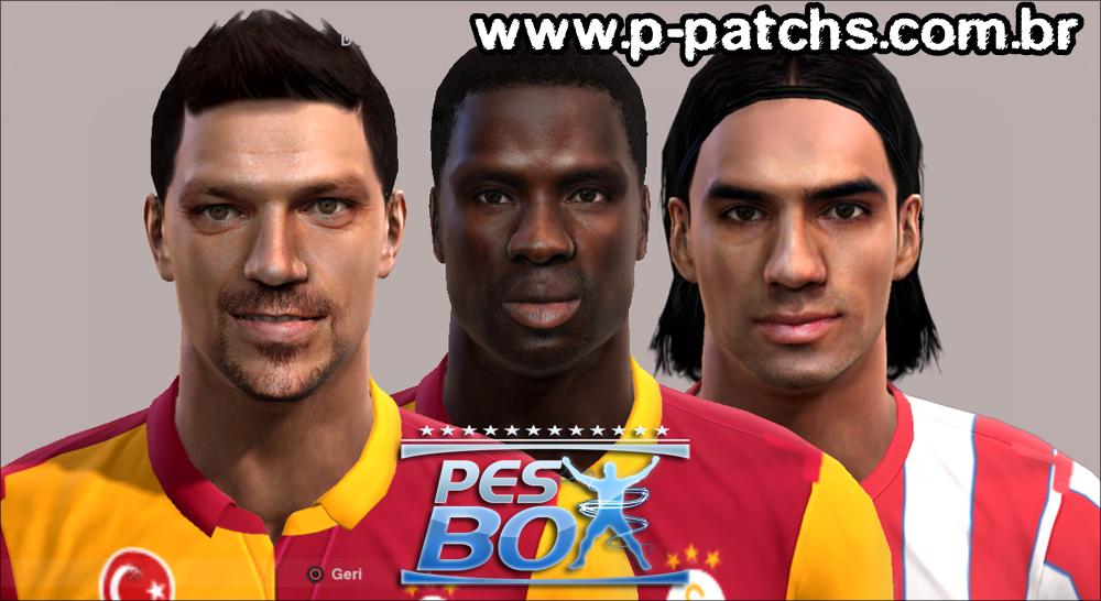 Tomás Ujfalusi, Emmanuel Eboué e Radamel Falcao García Faces - PES 2013