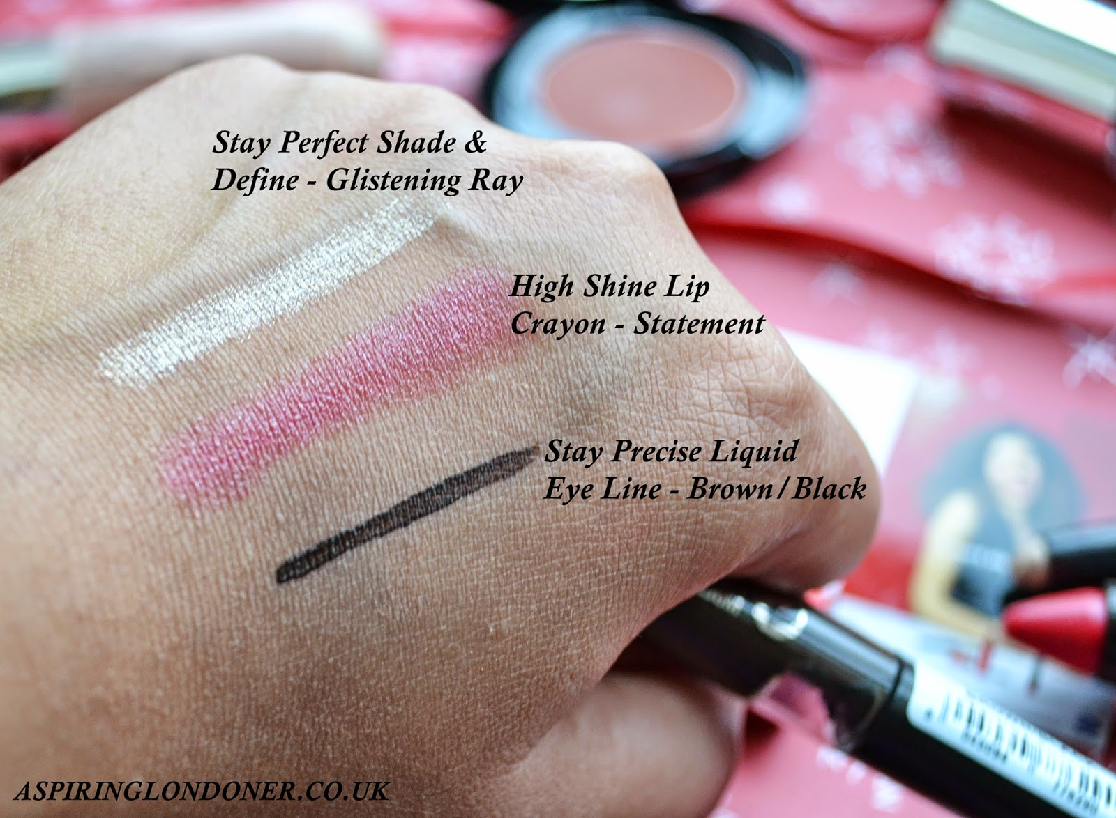 No7 High Shine Lip Crayon Statement, Stay Perfect Shade & Define, & Stay Precise Liquid Liner Review Swatch  - Aspiring Londoner
