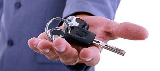 mașină la cheie