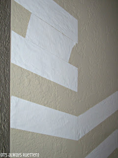 How to line up a chevron wall