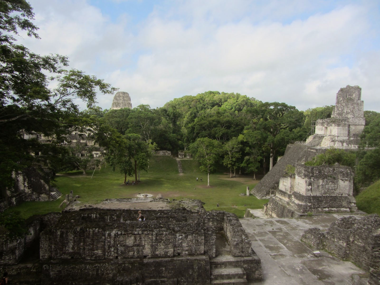 Main plaza of Tikal in Guatemala