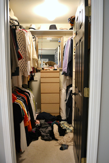 Master closet makeover - before