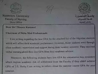 37 Kano State Nursing Students In Egypt To Return Home Due To Poor Academic Performance [See Grades]