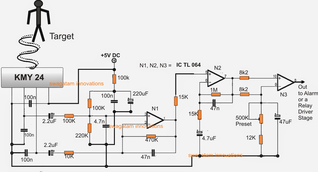 Ghz Microwave Radar Sensor Alarm Circuit on sample schematic diagram for alarm