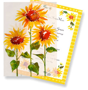 sunflower wedding cards