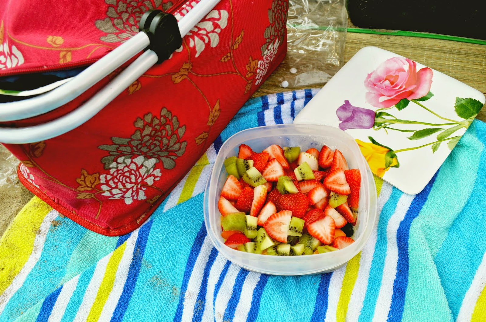 By The Time We Got Our Stuff To Beach I Didnt Feel Much Like Taking Pictures Of Food Snapped This One Shot Fruit Salad Prepared With