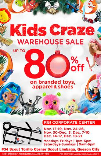 KIDS CRAZE WAREHOUSE SALE