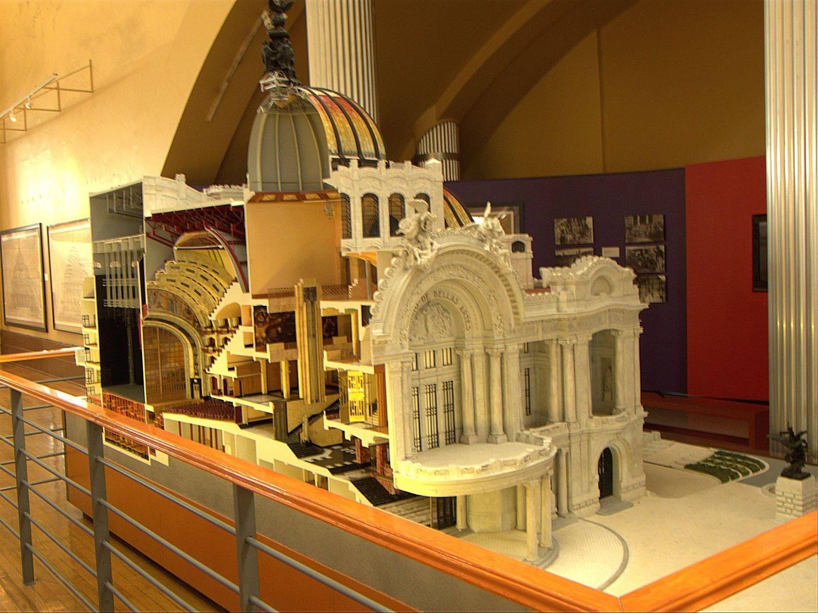 Murales y arquitectura en el palacio de bellas artes for Arquitectura 7 bellas artes