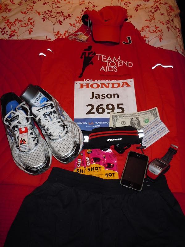 Marathon race day kit