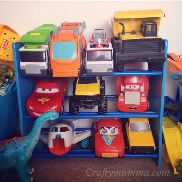 Mummy Genius - Truck and car toy storage. & Crafty Mumma: Mummy Genius - Truck and car toy storage.