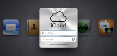 Ventana de inicio de iCloud