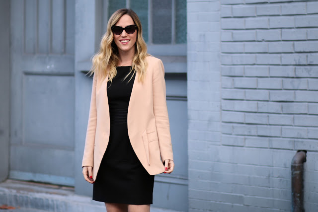 blush club monaco blazer