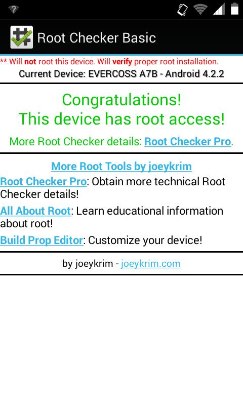 Cara Root Evercoss A7B dengan RomasterSu